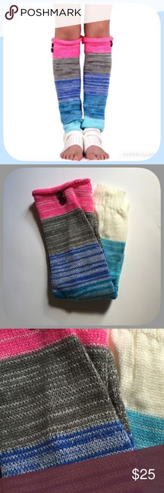 HP NWT Warm Colorful Blue/Pink Leg Warmer Socks HP 9/916! I love these! Weekend Wardrobe Party! They are really soft and so comfortable! And the colors are very sweet! Chosen by @hrachal please check out her amazing closet! Boutique Accessories Hosiery & Socks