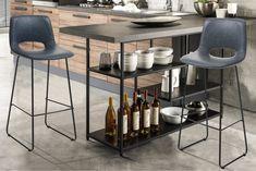A LEONEL bárszék trendi és fiatalos. A szék ülőfelülete szintetikus bőrrel borított, érdekes kialakításának köszönhetően nemcsak mutatós, de kényelmes választás is. A bárszéket letisztult vonalvezetés Bar Chairs, Chair Design, Modern, Table, Furniture, Home Decor, Bar Stool Chairs, Trendy Tree, Decoration Home