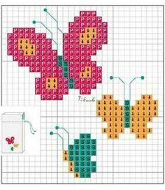 Cactus Cross Stitch, Butterfly Cross Stitch, Mini Cross Stitch, Beaded Cross Stitch, Cross Stitch Animals, Modern Cross Stitch, Cross Stitch Embroidery, Baby Cross Stitch Patterns, Cross Stitch Designs