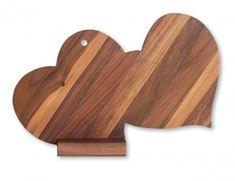 tagliere legno Coppia di cuori