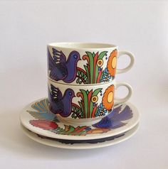 A set of 2 Villeroy & Boch Acapulco cup and Saucers