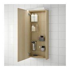 GODMORGON ウォールキャビネット 扉1枚付き, ホワイトステインオーク調 - 40x14x96 cm - ホワイトステインオーク調 - IKEA