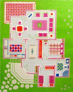 Tappeto Casa delle bambole verde S - Le civette sul Comò - design per bambini e genitori