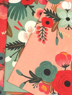 Botanicals Notebook Collection by Rifle Paper Co. (Set of 3) at What You Sow. Perfect for the handbag or the desktop, these three colorful notebooks feature foil-stamped covers and vintage-inspired interiors. The entire package is bound together with baker's twine. Each book measures 15 x 22cm
