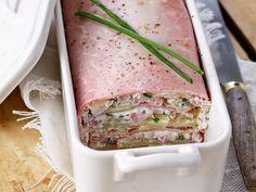 Recette de Terrine de jambon au chèvre et pomme de terre : la recette facile