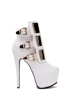Gold Plated White Platform Boots                                                                                                                              ᖽ•Ꮰ੬ℕട❜̋ᗷѳꂷɬίǪṳ̈ℯ•ᖾ