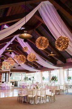 rustic wedding reception idea; photo: Rachel Havel Photography
