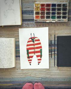 """1,140 curtidas, 72 comentários - ★Ceramics, Illustrations.★ (@shyshytoys) no Instagram: """"Не все мне дается просто. В тупике я просто делаю шаг назад и начинаю рисовать то, что рисовала…"""""""