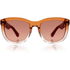 9e55c953cb4 The Row Gradient Orange and Burgundy Leather Wayfarer ( 205) ❤ liked on Polyvore  featuring