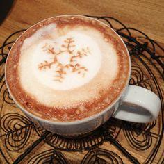 Snowflake Mocha Latte Art