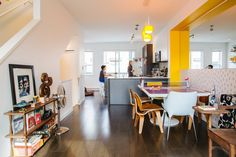 Jag & Agata's Colorful Canadian Townhouse Ping pong table kitchen table!