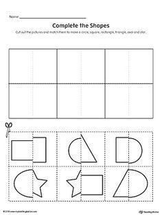Match Shapes Cut and Paste // Corta y pega formas Cut And Paste Worksheets, Shapes Worksheets, Tracing Worksheets, Literacy Worksheets, Printable Math Worksheets, Worksheets For Kids, Have Fun Teaching, Shape Matching, Circle Shape