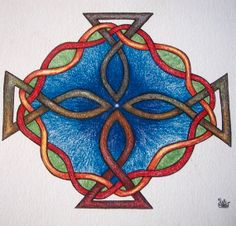 Greeting Card Celtic Pond of Life Knotwork by TheHappyViking, $5.00