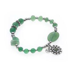 BIBA armband zilver / groen mooi merk #biba #bracelet