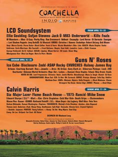 With a first glance at the lineup, you could argue that it's the Coachella Valley (Dance) Music and Arts Festival. Description from wingatewire.com. I searched for this on bing.com/images