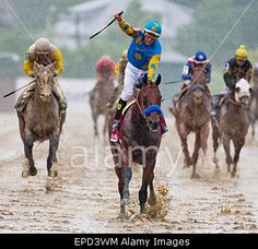 Baltimore, Maryland, USA. 16th May, 2015. #AmericanPharoah wins #Preakness Stakes at Pimlico Race Course in Baltimore, Maryland. Credit: Jon Durr/ESW/Cal Sport Media/Alamy Live News