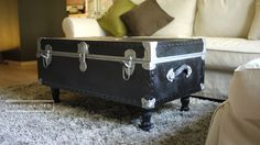 Making Suitcase Trunk as Coffee Table.  Great conversation peice.