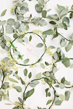 How to make eucalyptus hair wreaths, for a totally out of the box winter party look!