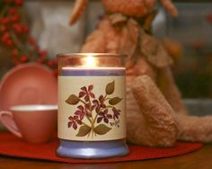Large Violet Bouquet Candle Wrap #21 www.thisilldocreations.com