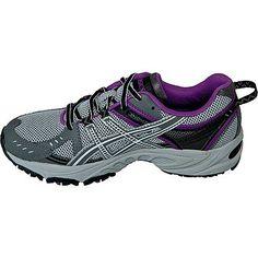 Asics Women's GEL-Venture 3 Trail Running Athletic Shoe - Grey/Black/Purple - Shoes - Womens Shoes - Womens Athletic Shoes