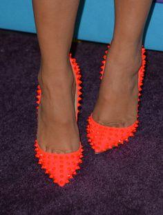 #Neon #heels with #Studs