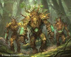 Ent Guard by kikicianjur on DeviantArt Monster Concept Art, Fantasy Monster, Monster Art, Forest Creatures, Fantasy Creatures, Mythical Creatures, Fantasy Races, Fantasy Warrior, Creature Concept Art