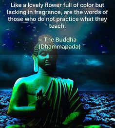 Like a lovely flower full of colour but lacking in fragrance, are the words of those who do not practice what they teach -Buddhism Buddhist Wisdom, Buddhist Teachings, Buddhist Quotes, Spiritual Wisdom, Buddhist Philosophy, Philosophy Quotes, Meaningful Quotes, Inspirational Quotes, Motivational