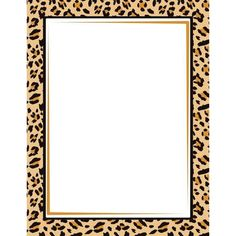 Leopard Print Border: Clip Art, Page Border, and Vector Graphics ❤ liked on Polyvore featuring borders and picture frame