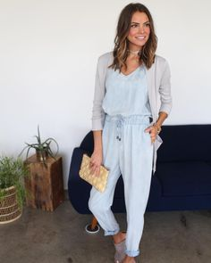 Did you know that our Shake Your Chambray Jumpsuit is made of 100% tencel? Tencel is made of natural fibers, is super soft and the best part? It's totally sustainable!