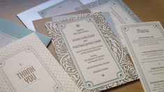 Great Gatsby Party Decorations | Art Deco Garden Party Wedding Invitations | Oh So Beautiful Paper
