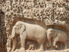 Die Tempel von Mahabalipuram in Tamil Nadu, Südindien. UNESCO Welterbestätte