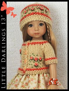 OOAK-Coral-Roses-Outfit-for-Little-Darlings-Effner-13-by-Maggie-Kate-Create