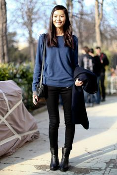 styleonstreet:  models-ifreja:  Liu Wen  styleonstreet - click for more street style. follow back all similar blog!