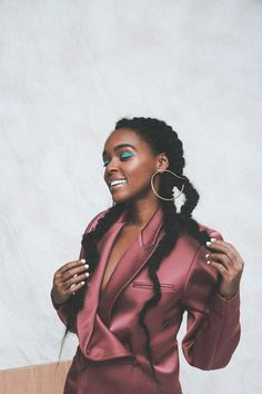 Janelle Monáe: Living Out Loud - them. Janelle Monáe: Living Out Loud - them. Prom Hair Down, Half Up Half Down Hair, Inspiration Mode, Queen, Beautiful Black Women, Amazing Women, Down Hairstyles, Prom Hairstyles, Black Girl Magic
