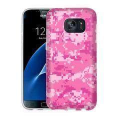 Samsung Galaxy S7 Digital Camo Pink Slim Case