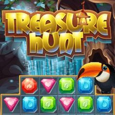 Treasure HuntIn Treasure Hunt lots of challenging levels await you. Combine three or more crystals to achieve the objectives of every level and you will find the epic treasure at the end of the game. Games Gratis, Free Games, Play Online, Online Games, Treasure Hunt Games, Match 3 Games, Phone Games, The End Game, School Games