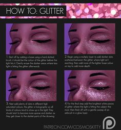 "cosmos-kitty: "" The first tutorial for my new Patreon which is on glitter! My Patreons will receive the full tutorial with extra pages on the subject that have more in-depth explanations and examples..."
