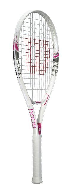Amazon.com: Wilson Hope Adult Strung Tennis Racket, 4 1/4: Sports & Outdoors