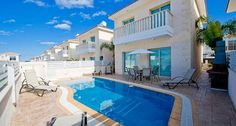 3 Bedroom Villa in Protaras to rent from £745 pw. With air con, TV and DVD.