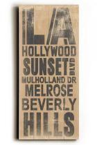 LA Transit Sign Wall Plaque