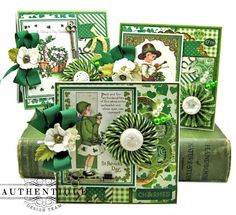 Get ready for St. Patrick's Day with this Authentique Shamrock Card Tutorial. I'll show you how to build an easy pocket card base, decorate and turn a card into a party! Fun Fold Cards, Folded Cards, St Patrick's Day Crafts, Holiday Crafts, St Patricks Day Cards, Scrapbook Cards, Pocket Scrapbooking, Cricut Cards, Card Tutorials
