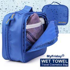 Cool design travel bag set for lady and men, water-proof design travel bag set,can put in wet towel, girls best travel bag set.