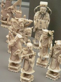 Ivory Chess Set China (2)