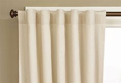 Heavyweight Cotton Duck Rod Pocket Drape (Single Panel) - 56 x 84 Inch Drape Neutral colors; Khaki - Natural - Pavement
