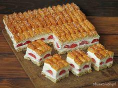 Ciasto z truskawkami dla leniwych w 10 minut Cakepops, Cupcakes, I Foods, Tiramisu, Ale, Waffles, Bakery, Deserts, Food And Drink
