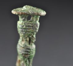 Amlash bronze coiled wire figurine, 1st millenium B.C. Private collection For more Amlash bronze coiled wire figurines please visit https://it.pinterest.com/andreacanecane/amlash-bronze-figurines-statuettes/?eq=figurine&etslf=5247