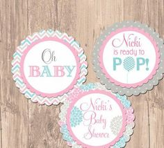 Ready to Pop Balloon Baby Shower Cupcake Toppers- Printable - http://babyshower-cupcake.com/ready-to-pop-balloon-baby-shower-cupcake-toppers-printable/