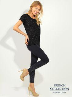 T-shirt czarny Bluzki \ t-shirty French Collection \ Bluzki \ t-shirty Butik 133392
