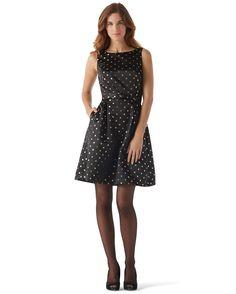Shimmer Dot Fit & Flare Dress