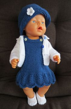 baby new born photo ideas baby born ideas photo Knitting Dolls Clothes, Crochet Doll Clothes, Knitted Dolls, Doll Clothes Patterns, Baby Born Clothes, Bitty Baby Clothes, Girl Doll Clothes, Diy Doll Pattern, Free Pattern
